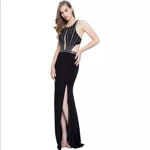 Terani Couture Black Prom Cut Out Dress